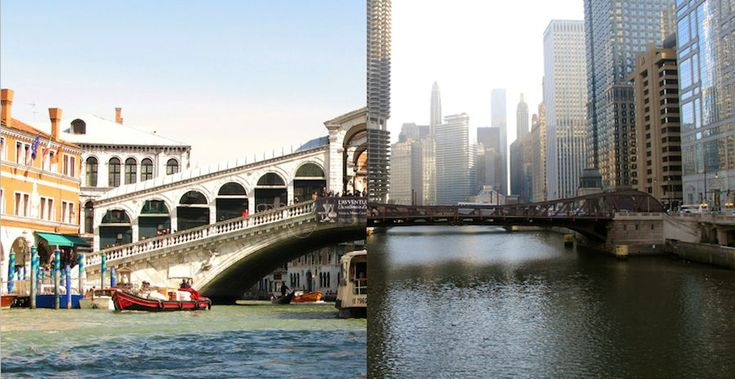 Architecture biennale: Chicago vs Venice? Inaugural Chicago Architecture Biennial attracted over half a million people, more than double the visitors of Venice Biennale. We looked into it, going beyond the figures…ph Rialto bridge in Venice and Chicago bridge - Photos by Adry and Daniel X O'Neil, Flickr CC.