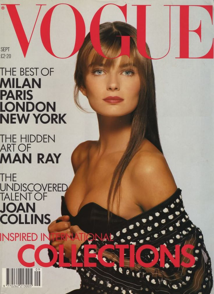 Paulina Porizkova by Patrick Demarchelier Vogue UK September 1988