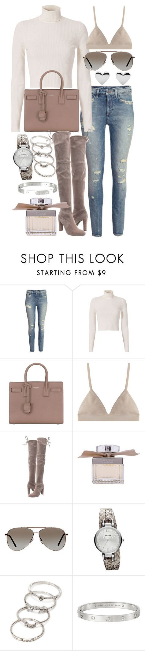"""""""Untitled #20482"""" by florencia95 ❤ liked on Polyvore featuring H&M, A.L.C., Yves Saint Laurent, Proenza Schouler, Stuart Weitzman, Chloé, Tom Ford, FOSSIL, Forever 21 and Cartier"""