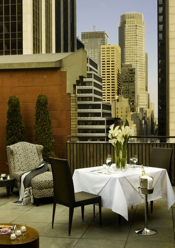 Rooftop dining at the muse in nyc kimpton cityscapes for Dog friendly hotels nyc