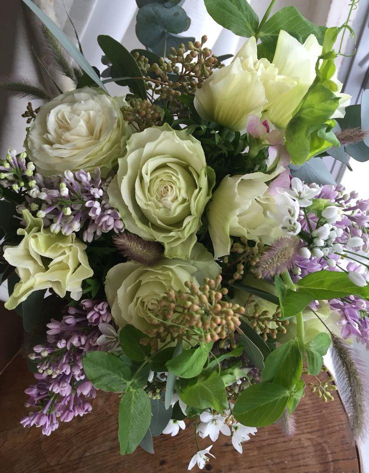 バラとライラックのスプリングブーケ Rose & lilac spring bouquet