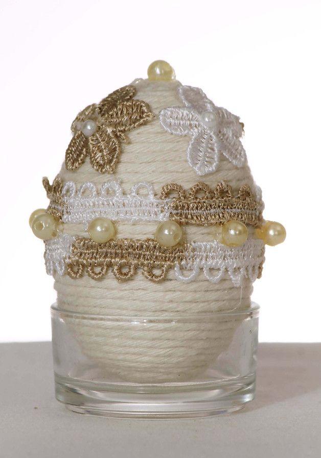 Małe jajko wielkanocne na świąteczny stół. - RekodzieloNidzica - Dekoracje wielkanocne