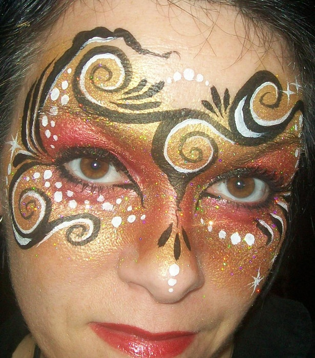 face painting: Pretty Faces, Carnivals Faces, Face Paintings, Body Paintings, Paintings Body, Pretty Carnivals, Paintings Masks, Bodyart, Faces Paintings Costumes