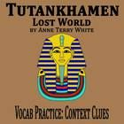 """Ten sentences (2 per word) for students to complete using context clues. Word bank has definitions. All vocabulary words are from the excerpt """"Tutankhamen"""" from Lost World by Anne Terry White. Key included."""