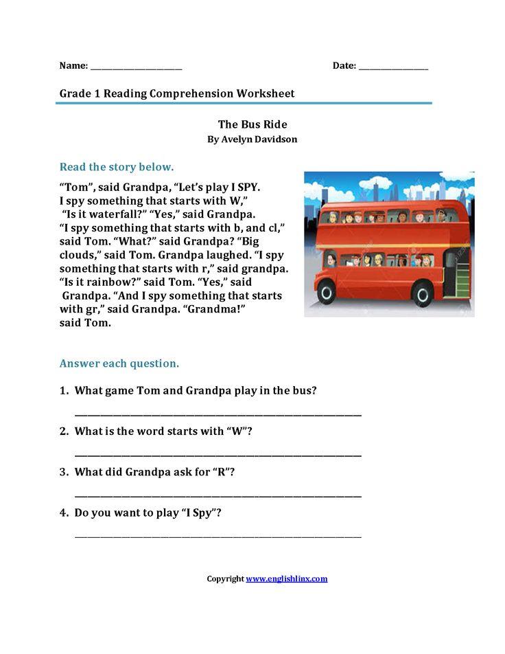 1st grade esl worksheets