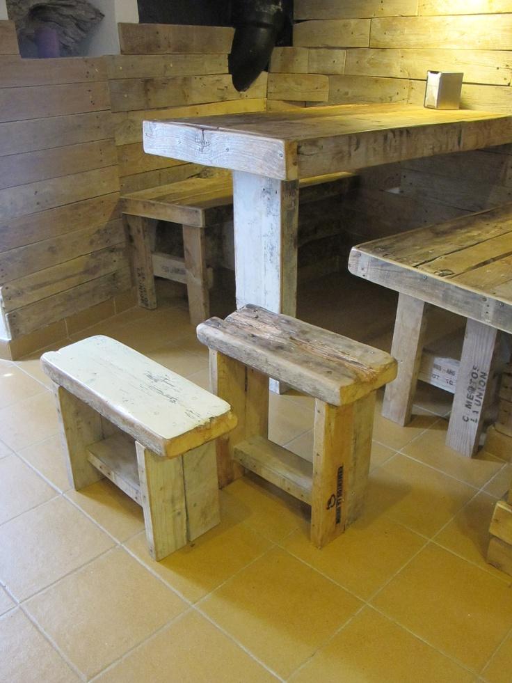 de sobrantes de palets y otras maderas #Valldemossa #Mallorca #Palets