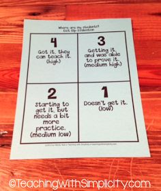 a Class*y Collaboration: The 5 W's of Exit Tickets #exit #ticket