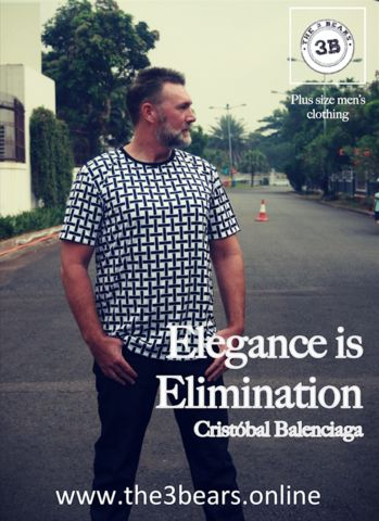 Elegance is elimination, Cristóbal Balenciaga Plus Size Men's Clothing – The 3Bears