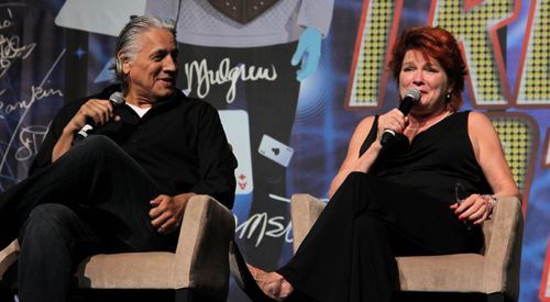 Kate Mulgrew and Robert Beltran at Star Trek Las Vegas 2013.