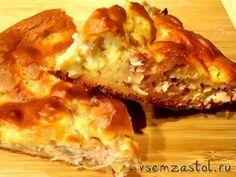 пирог с мясом «Легче не бывает» (Наливное тесто на кефире — пятиминутка)