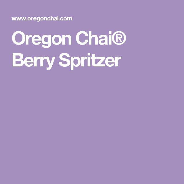 Oregon Chai® Berry Spritzer
