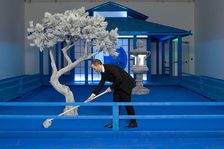 스나키텍쳐 다니엘 아샴이 조각한 파란색 일본 정원