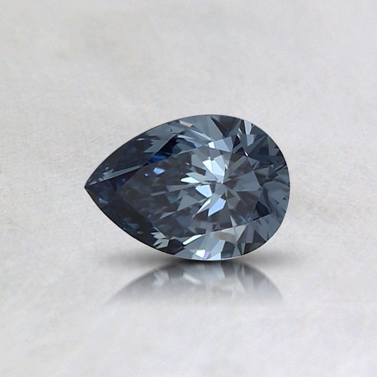 Loose Fancy Deep Blue Pear Lab Created Diamond – 0.32 ct. (Setting Price)
