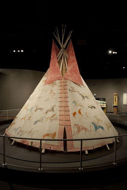 19th-century Lakota tipi Lakota tipi, ca. 1890–1910. South Dakota. #Native American Culture #Lakota
