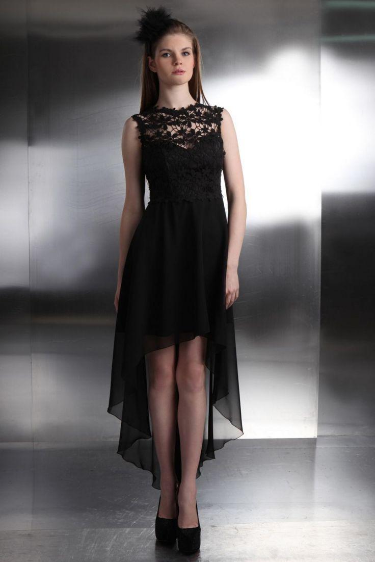 Kleid vorne kurz hinten lang mit armeln  Prom dresses short, Lace