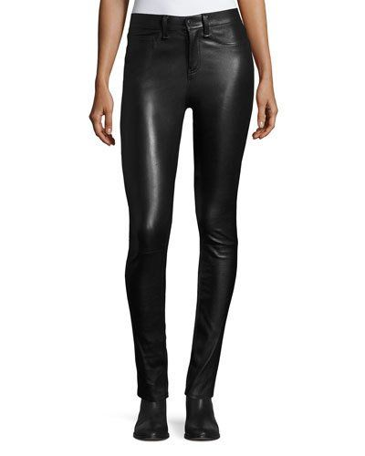 3e87ee9a70 Veronica Beard Kate 10 Mid-Rise Skinny Leather Pants   Products ...