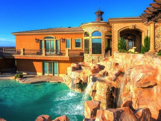 image detail for luxury nevada home with 20ft diving pool and a waterslide listed for