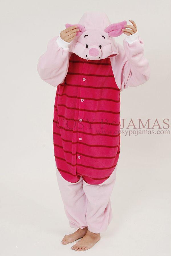 Animal Costumes Piglet Onesie Kigurumi For Adult