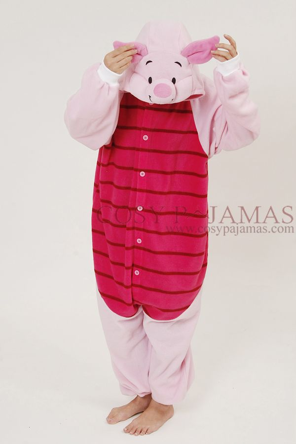 Animal Costumes Piglet Onesie Kigurumi For Adult