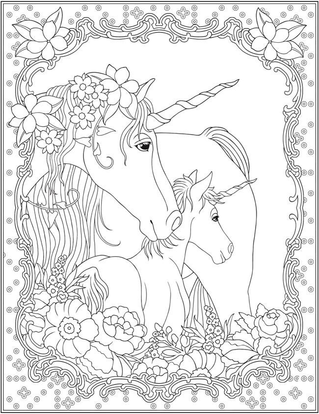 Welcome To Dover Publications Creative Haven Unicorns Coloring Book Unicorn Coloring Pages Horse Coloring Pages Animal Coloring Pages
