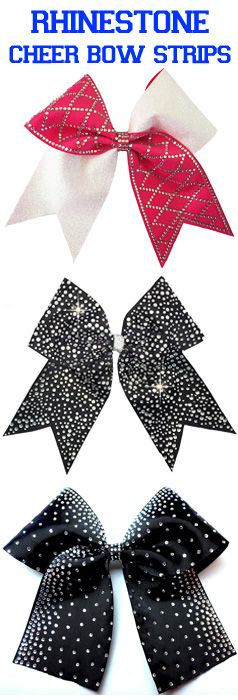Make Rhinestone Cheer Bows With Hotfix Strips From Cheer Bow Supply.
