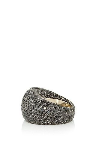 Vhernier - Pirouette Black Pave Diamond Ring