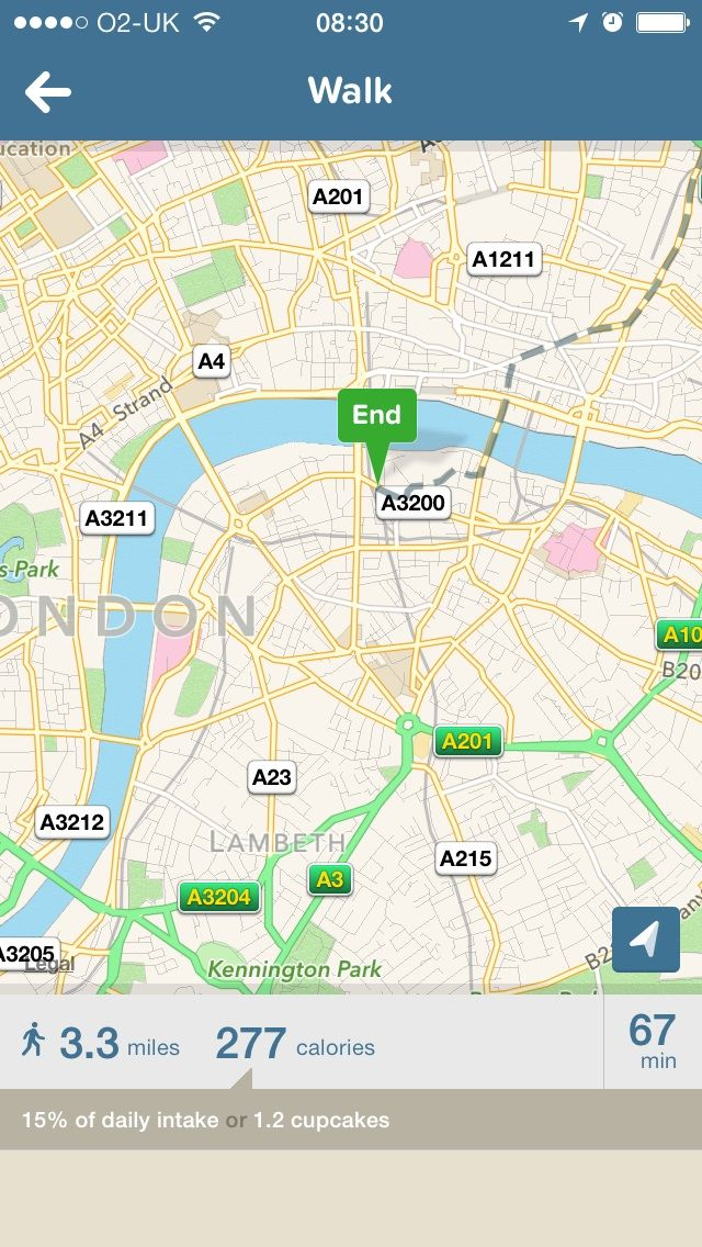 Emotional Design with City Mapper App -When you've filtered a journey with 'walk' it tells you the percentage of daily calorie intake used and what that equates too in food stuffs. http://littlebigdetails.com/