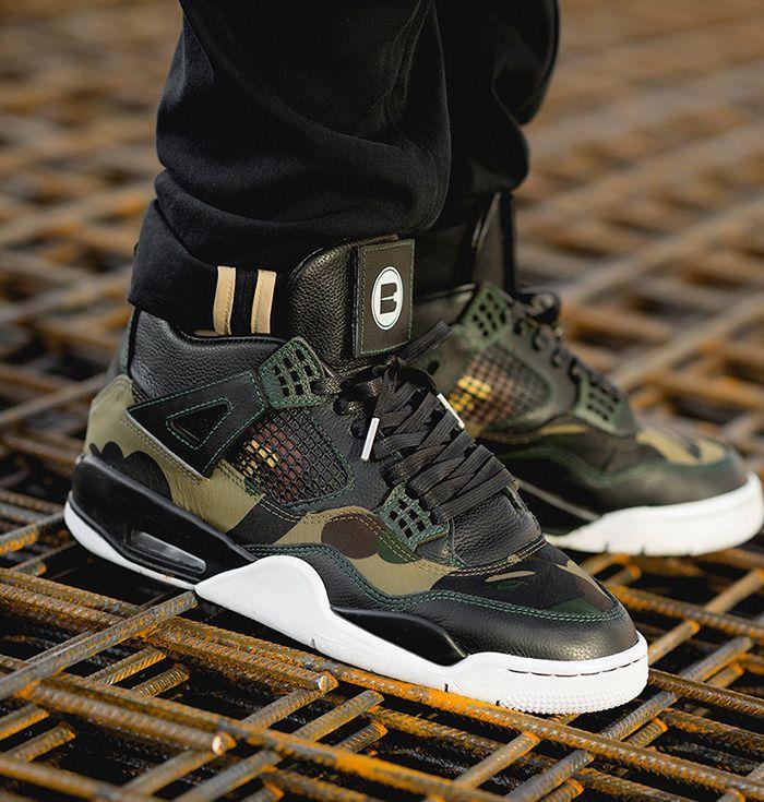 b433bb242fba Gore-Tex x BAPE x Air Jordan 4 by BespokeIND Custom Sneakers