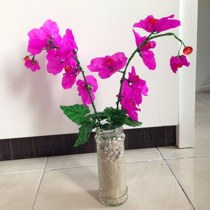 Orchid made from acrylic #anggrek #acrylic #flower #orchid #artificial