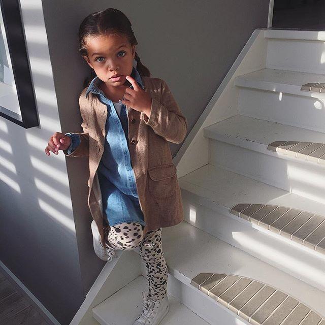 Adorable mixed little girl