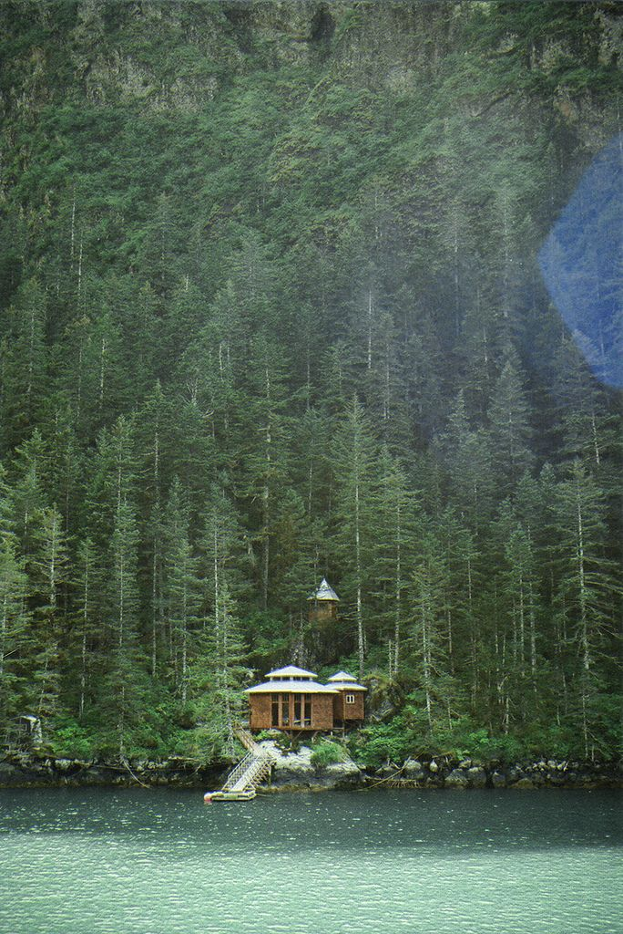 home nestled in the Kenai Fjords, Alaska : photo amalia sieber  http://stevemartinrealestate.wordpress.com/