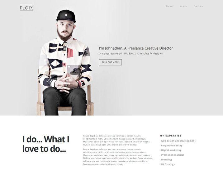 246 best FREE Website Responsive HTML\/Bootstrap\/Templates - wordpress resume template