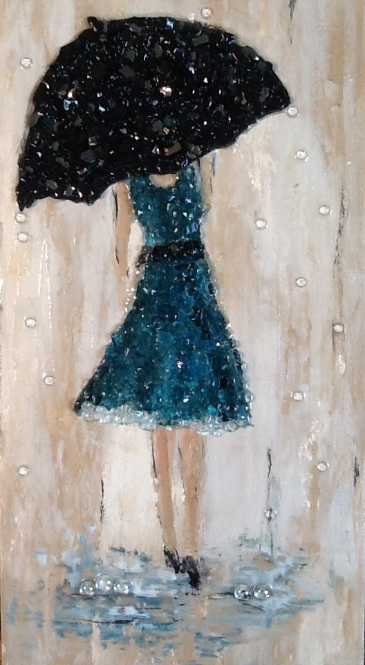 crushed glass art - Google Search