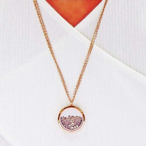 Souldance Stardust Swarovski Rose Gold Necklace - Aistikas