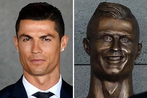 Cristiano Ronaldo Was Honored With A Statue And OMG It's Nightmare Fuel