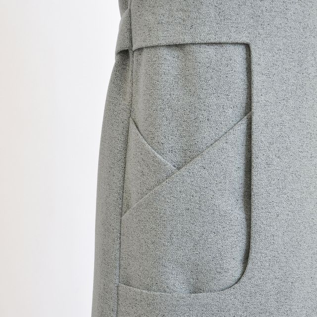 Geometric Pocket detail with cut out shape & layered panels; creative sewing; patternmaking // Sanne Jansen