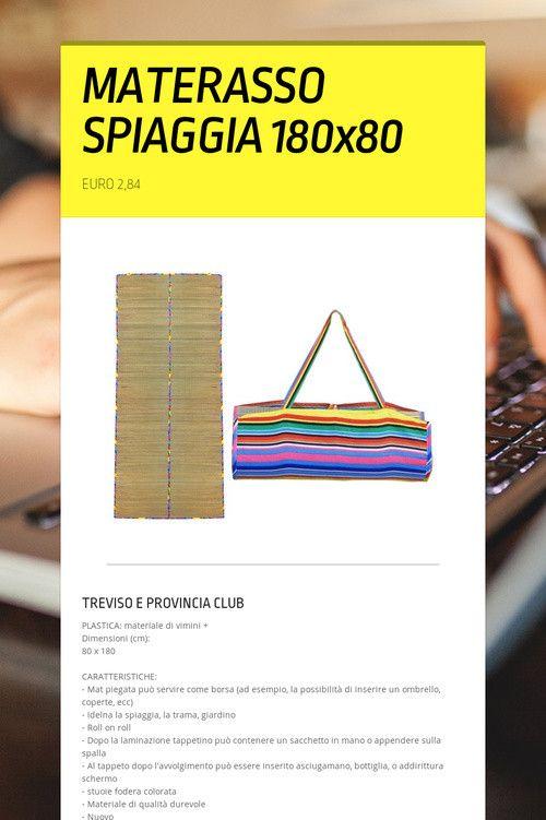 MATERASSO  SPIAGGIA  180x80