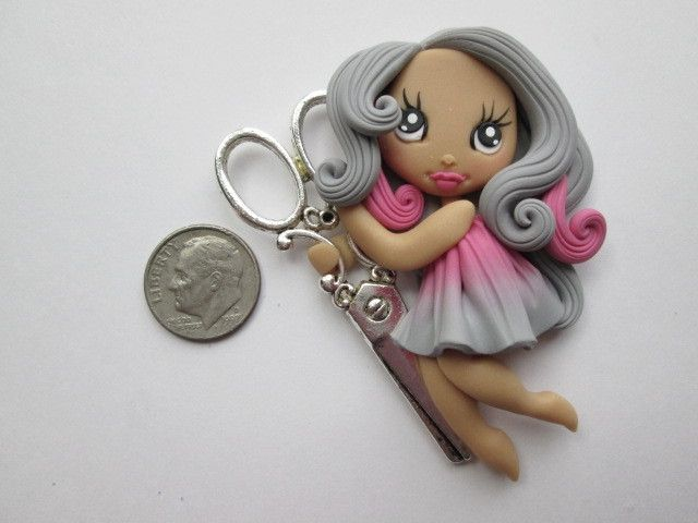 Needle Minder ~ Scissors Girl #11 (ONE OF A KIND!)