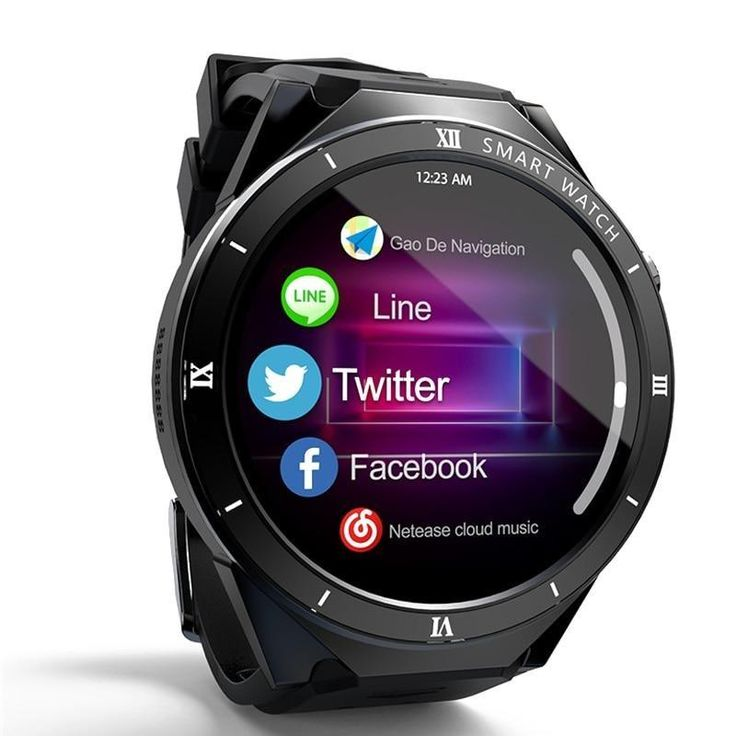 Smartwatch Android Support APP Download WIFI SIM Card 1GB