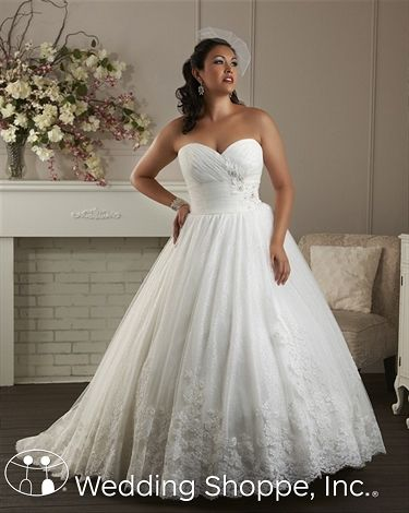 Bonny 1400 Soft and romantic plus size wedding dress.