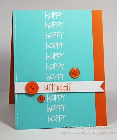 Boy birthday card by Christina MacLaren.  Another Rose candidate, who sings a rendition of Happy Birthday at group... this fits perfectly