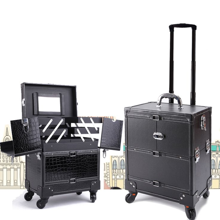 Professional Black Multilayer Trolley Make Up Tattoo Case Large  Capacity With Mirror Storage Box Cleaning Tools Tattoo Supplies-in Tattoo accesories from Health & Beauty on Aliexpress.com | Alibaba Group