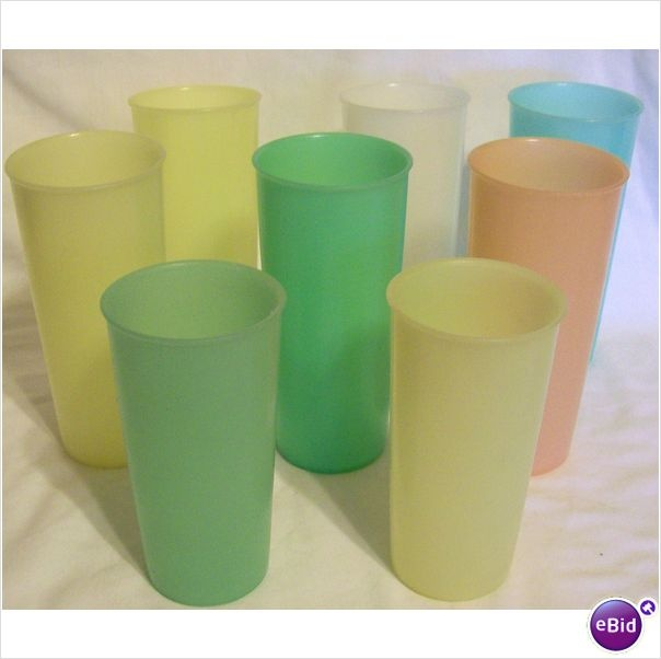 Tupperware Cups never quite clean of koolaid or tang stains and smelled funny but didn't break... Malone td