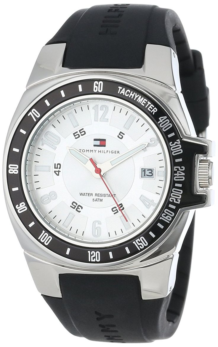 Tommy Hilfiger Men's 1790485 Black Rubber Strap Watch *** You can get additional details at the image link.