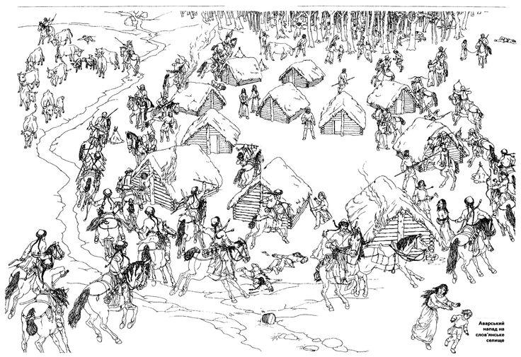 Avar raid on slavic village v roce 2019