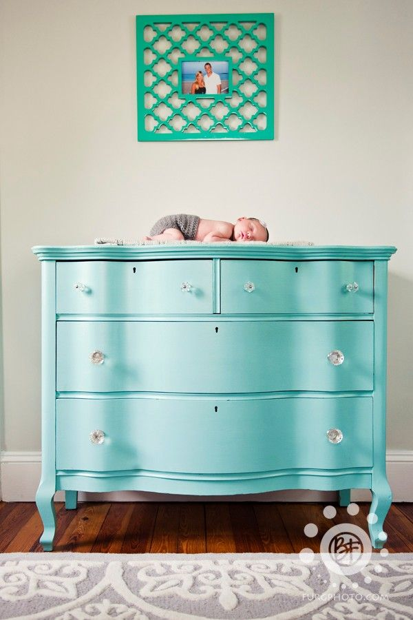comoda-infantil-azul-turquesa