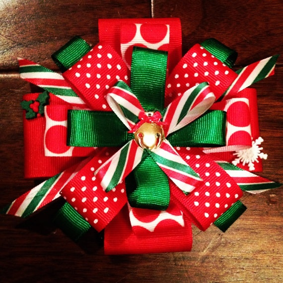 Large Christmas Bow by StageMomsONLY on Etsy, $10.00