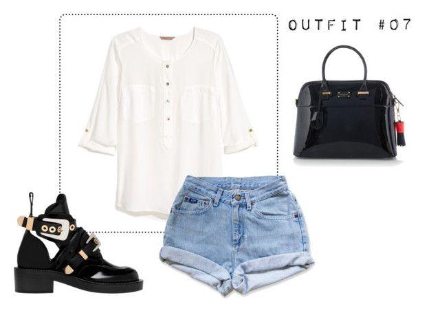 """Outfit #07"" by caroluemura on Polyvore featuring moda, H&M, Levi's, Balenciaga e Paul's Boutique"