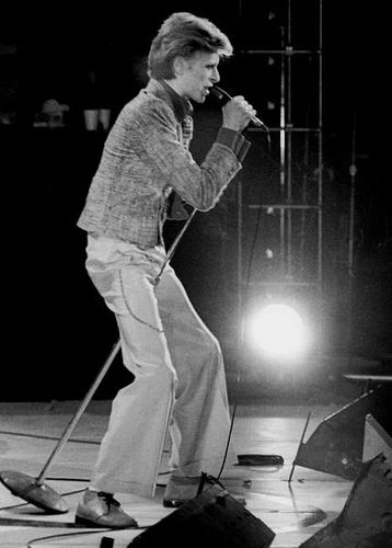 David Bowie. The Young Americans tour at the Washington DC Capital Centre on 11 November 1974