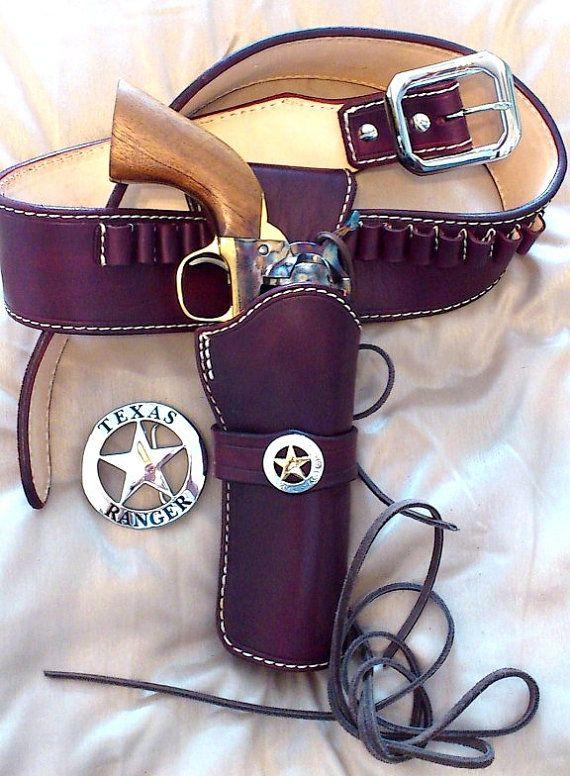 Oooh, Love this one!  SKINCARVERS Custom Western Holster GUNBELT  CFDA Competition Leather Holster. $185.00, via Etsy.